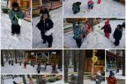 Мы зимой в снежки играем...
